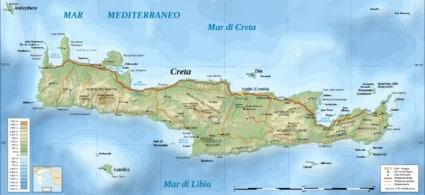 Mappa di Creta