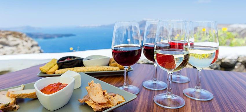 Degustazione vino a Santorini